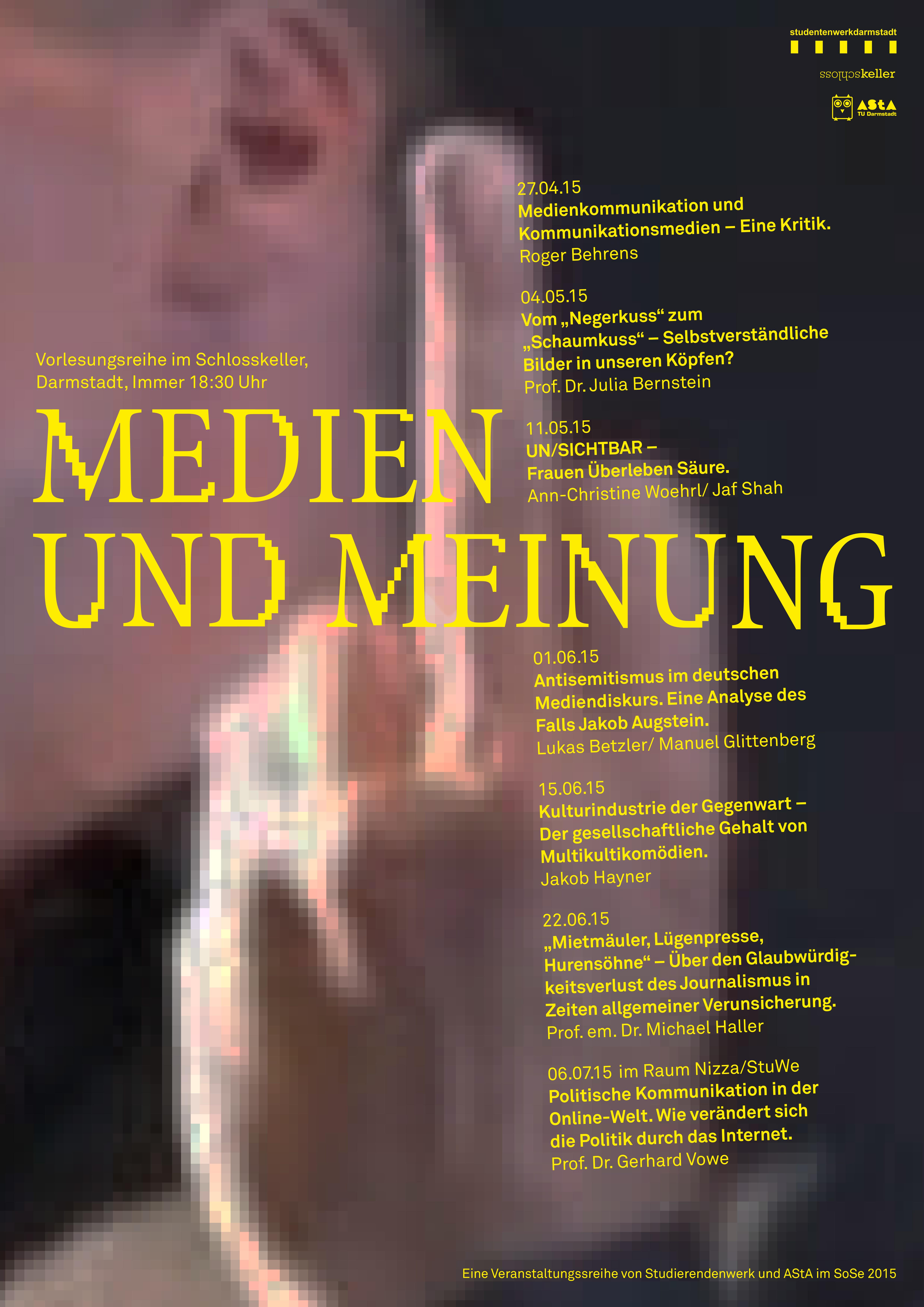 Medien und Meinung Plakat