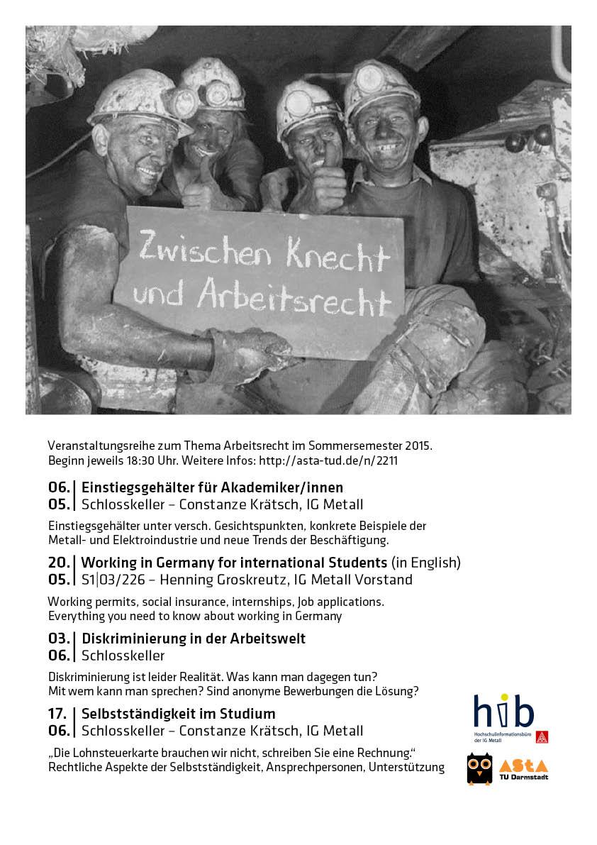 Zwischen Knecht und Arbeitsrecht 2015