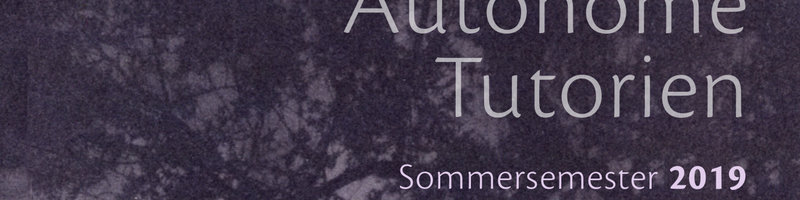 Autonome Tutorien SS19 Header
