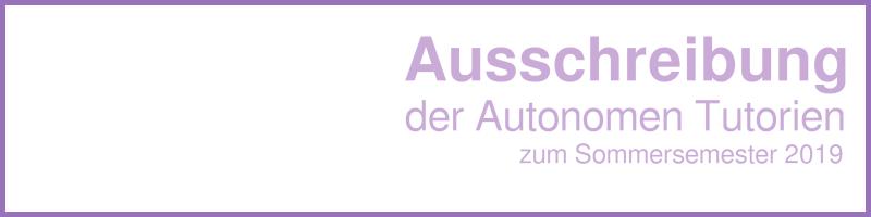 Banner Autonome Tutorien SS19