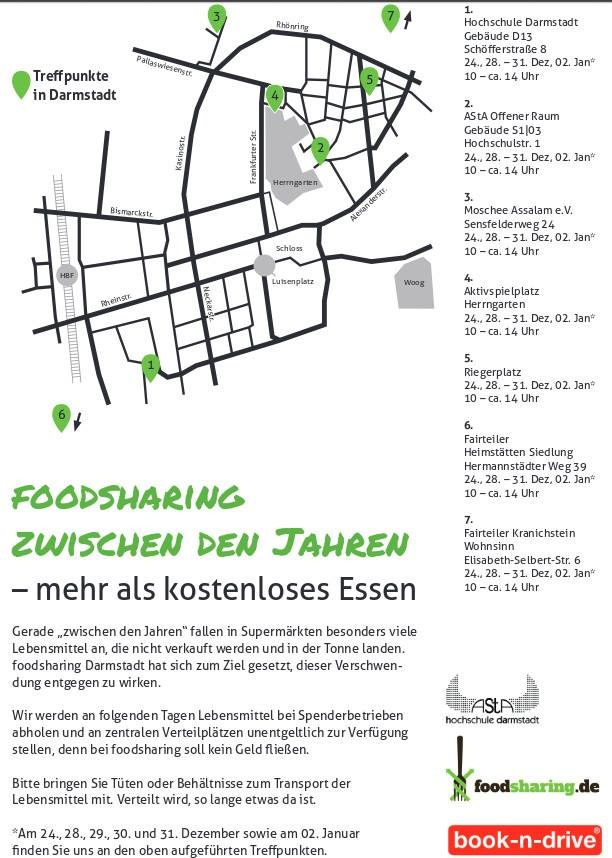 Flyer Foodsharing Weihnachtsaktion 2015