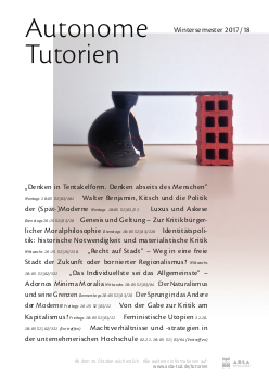 Plakat Autonome Tutorien WS17/18