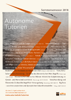 Plakat Autonome Tutorien SS18