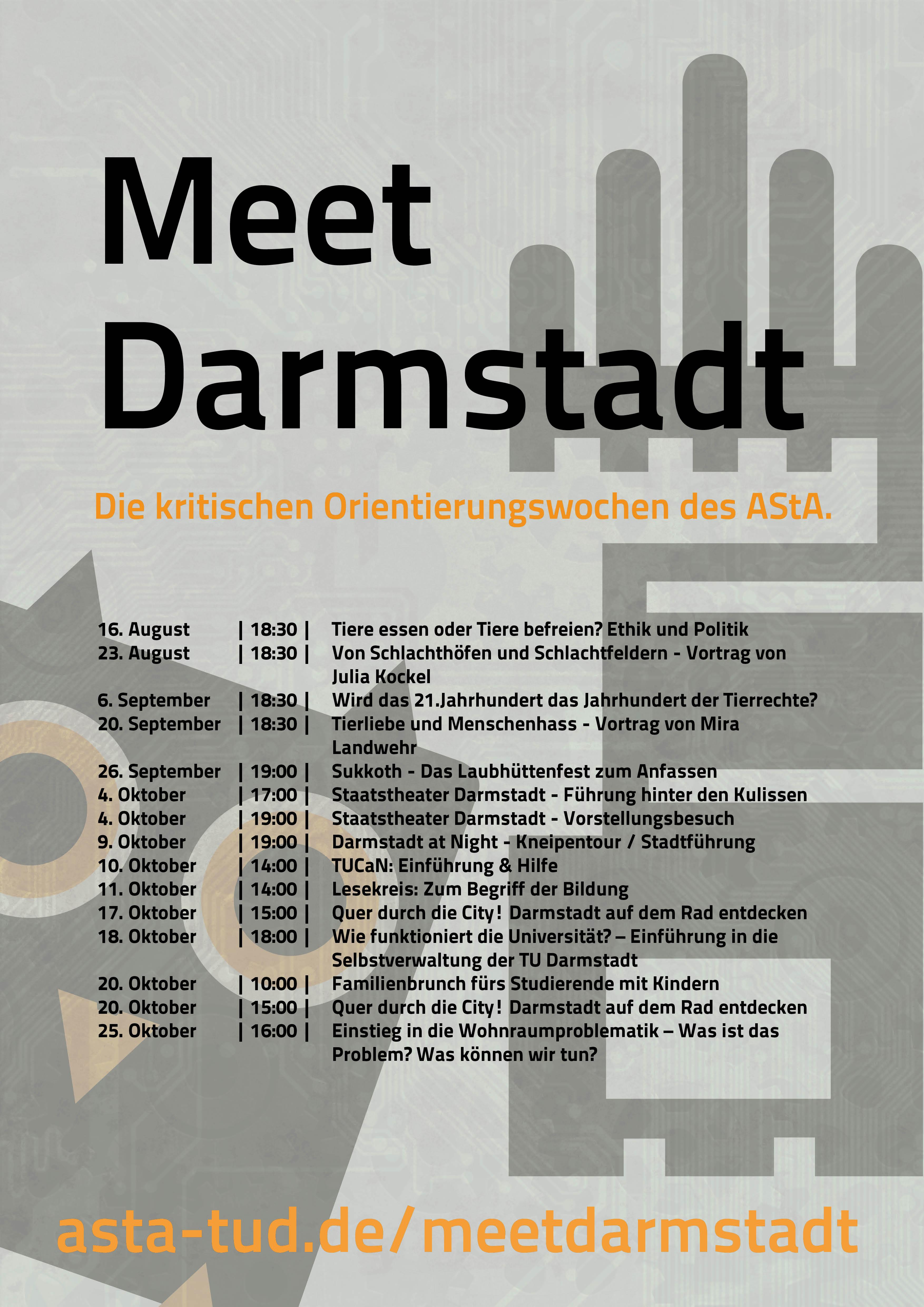 Meet Darmstadt - Plakat